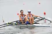 Shunyi, CHINA.  Heat of the Lightweight women's double sculls, GBR LW2X, Bow Hester GOODSELL and Helen CASEY, move away from the start, at the 2008 Olympic Regatta, Shunyi Rowing Course. Sunday 10.08.2008  [Mandatory Credit: Peter SPURRIER, Intersport Images]
