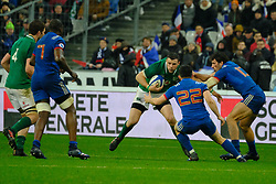February 3, 2018 - Saint Denis, Seine Saint Denis, France - The Centre of Irish team FERGUS MCFADDEN in action during the NatWest Six Nations Rugby tournament between France and Ireland at the Stade de France - St Denis - France..Ireland Won 15-13 (Credit Image: © Pierre Stevenin via ZUMA Wire)