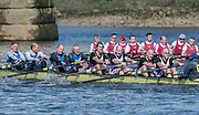 Mortlake/Chiswick, GREATER LONDON. United Kingdom. Quintin BC/University of London Tyrian Club, MasE.8, competing in the 2017 Vesta Veterans Head of the River Race, The Championship Course, Putney to Mortlake on the River Thames.<br /> <br /> <br /> Sunday  26/03/2017<br /> <br /> [Mandatory Credit; Peter SPURRIER/Intersport Images]