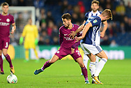 James Morrison of West Bromwich and Benardo Silver of Manchester City (c) in action .Carabao Cup 3rd round match, West Bromwich Albion v Manchester City at the Hawthorns stadium in West Bromwich, Midlands on Wednesday 20th September 2017. pic by Bradley Collyer, Andrew Orchard sports photography.