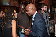 ROSARIO DAWSON; ORIN LEWIS, West End opening of RSC production of Julius Caesar at the Noel Coward Theatre on Saint Martin's Lane. After-party  at Salvador and Amanda, Gt. Newport St. London. 15 August 2012.