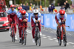 September 22, 2018 - Innsbruck, Autriche - MARTIN Tony (GER)  ofEquipe  Team Katusha Alpecin and TEAM KATUSHA ALPECIN in action (Credit Image: © Panoramic via ZUMA Press)