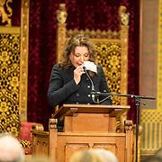 NLD/Den Haag/20171221 - Koning bij sluitingsceremonie Joegoslavie tribunaal, Mirjana Karanović