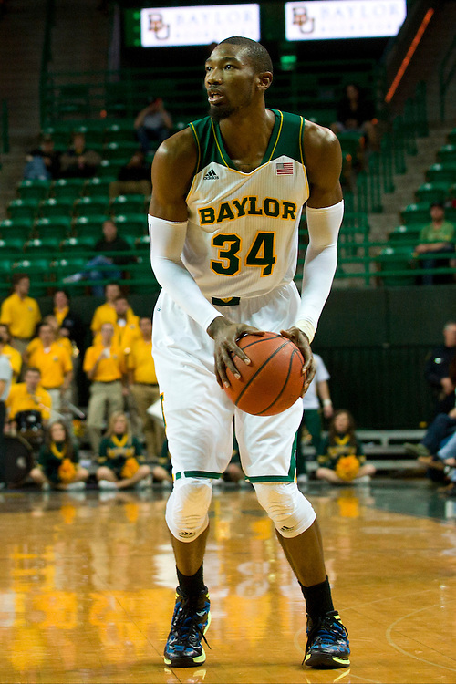 WACO, TX - JANUARY 3: Cory Jefferson #34 of the Baylor Bears shoots a three-pointer against the Savannah State Tigers on January 3, 2014 at the Ferrell Center in Waco, Texas.  (Photo by Cooper Neill) *** Local Caption *** Cory Jefferson