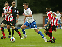 Photo: Aidan Ellis.<br /> Bury FC v Brentford. Coca Cola League 2. 01/09/2007.<br /> Bury's Colin Woodthorpe goes past Brentford's Ben Starosta