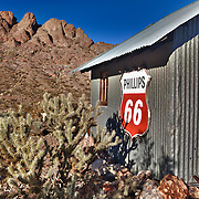 Phillips 66 Sign And Eldorado Hills - Eldorado Canyon - Nelson NV - HDR