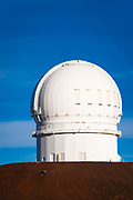 Observatory on the summit on Mauna Kea, The Big Island, Hawaii USA