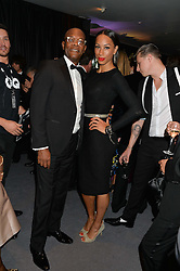 SAMUEL L JACKSON and JADE JOHNSON at the GQ Men Of The Year 2014 Awards in association with Hugo Boss held at The Royal Opera House, London on 2nd September 2014.