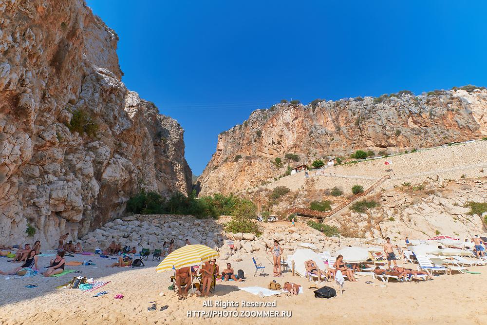Landside view of Kaputas beach, Turkey