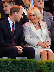 Prince William and  Camilla Parker Bowles - Photo mandatory by-line: Joe Meredith/JMP - Mobile: 07966 386802 - 10/09/14 - The Invictus Opening Ceremony - London - Queen Elizabeth Olympic Park