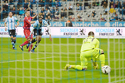 17.03.2017, Allianz Arena, Muenchen, GER, 2. FBL, TSV 1860 Muenchen vs Würzburger Kickers, 25. Runde, im Bild Elia Soriano (FC Wuerzbuger Kickers), Abduoulaye Ba (TSV 1860 Muenchen), v.li. Aktion // during the 2nd German Bundesliga 25th round match between TSV 1860 Muenchen and Würzburger Kickers at the Allianz Arena in Muenchen, Germany on 2017/03/17. EXPA Pictures © 2017, PhotoCredit: EXPA/ Eibner-Pressefoto/ Buthmann<br /> <br /> *****ATTENTION - OUT of GER*****