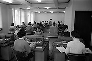 18/04/1963<br /> 04/18/1963<br /> 18 April 1963<br /> Interiors of the Tax Office 9/10 Upper O'Connell Street, Dublin. Special for I.C.T. Ltd. Staff operating I.C.T. computers in office.