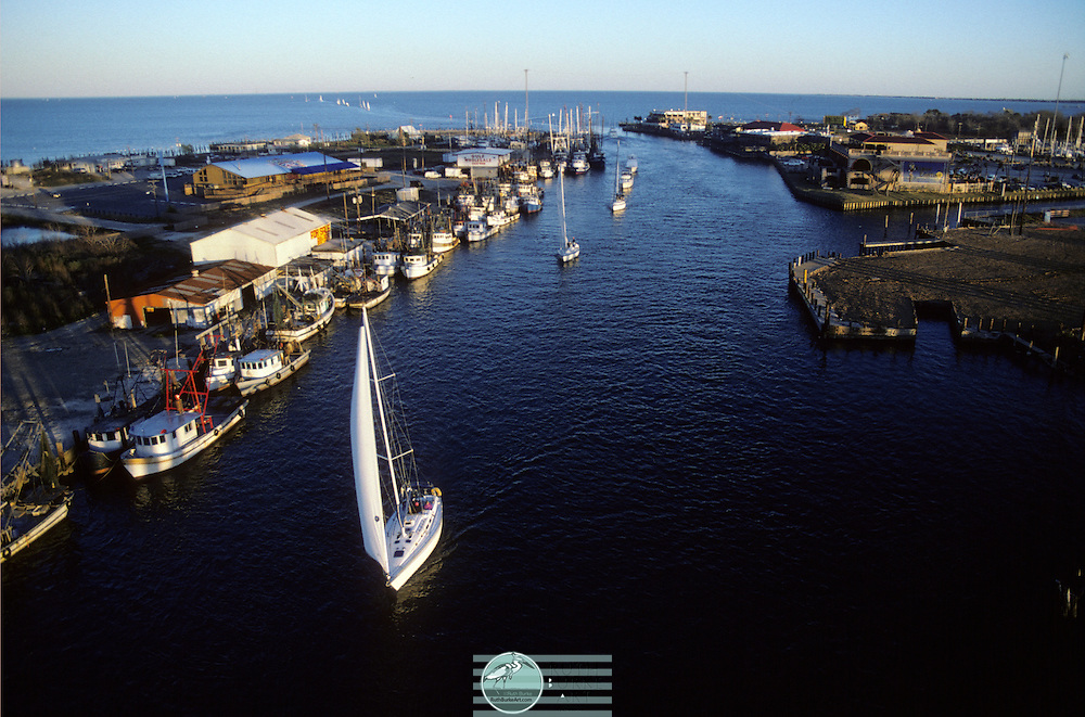 1993 Sailboats in Channel along Seabrook and Kemah