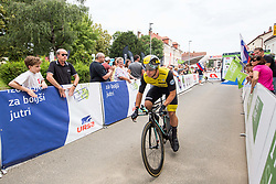 Dylan Groenewegen of Team Lotto NL Jumbo during 5th Time Trial Stage of 25th Tour de Slovenie 2018 cycling race between Trebnje and Novo mesto (25,5 km), on June 17, 2018 in  Slovenia. Photo by Vid Ponikvar / Sportida