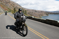 Bill Page riding his 1915 Harley-Davidson Model J in the Motorcycle Cannonball coast to coast vintage run. Stage 12 (242 miles) from Great Falls to Kalispell, MT. Thursday September 20, 2018. Photography ©2018 Michael Lichter.