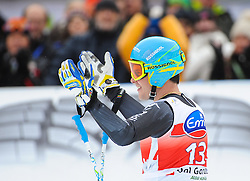 20.12.2013, Saslong, Groeden, ITA, FIS Ski Weltcup, Groeden, Herren, SuperG, im Bild Christof Innerhofer (ITA) // Christof Innerhofer of Italy reacts at the finish area during mens Super-G of the Groeden FIS Ski Alpine World Cup at the Saslong Course in Gardena, Italy on 2012/12/20. EXPA Pictures © 2013, PhotoCredit: EXPA/ Johann Groder