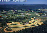 Northeast PA farmlands,farms and mountain, aerial, Schuylkill Co.