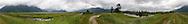 The trail along the Pitt Dike in Pitt Meadows, British Columbia, Canada