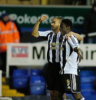 Photo: Leigh Quinnell.<br /> Birmingham City v Newcastle United. The FA Cup. 06/01/2007. Newcastles Kieron Dyer(L) celebrates his goal with teammmate Obafemi Martins.