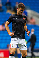 Bournemouth defender Gary Cahill (24) in action during the pre-match warm-up before at the EFL Sky Bet Championship match between Cardiff City and Bournemouth at the Cardiff City Stadium, Cardiff, Wales on 18 September 2021.