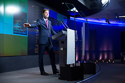 © Licensed to London News Pictures. 09/06/2014. LONDON, UK. Liberal Democrat party leader Nick Clegg delivering a speech about party's long term vision in coalition and policies at Bloomberg in central London on Monday, 9 June 2014. Photo credit : Tolga Akmen/LNP