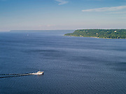 View of Ephraim, Wisconsin, taken from the Eagle Bluff Tower, Peninsual State Park, Door County, Wisconsin.