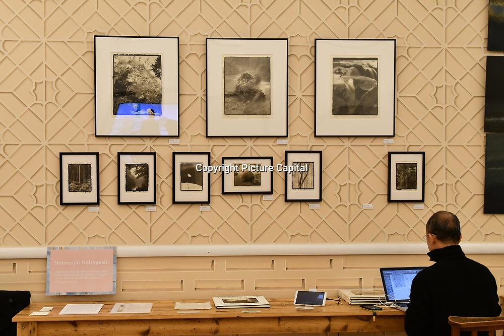 Nobuyuki Kobayashi exhibition at Winter blossom fair: A celebration of east asian art, craft and design at China Exchange on 10 November 2018, London, UK.