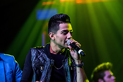"""ANAHEIM, CA - MAR 20: Singer Luis Coronel came to support his brother Bebe Coronel by singing and dancing during the performance of  """"Vaselina El Musical USA"""" at the M3 Live March 20, 2016 in Anaheim, California.  Byline, credit, TV usage, web usage or linkback must read SILVEXPHOTO.COM. Failure to byline correctly will incur double the agreed fee. Tel: +1 714 504 6870."""