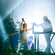 VIENNA, VA - August 21, 2014 - Swedish pop star Robyn performs with the Norwegian electronic music duo Royksopp at Wolf Trap's Filene Center in Vienna, VA. The two artists are touring together after releasing a collaborative mini-album titled Do It Again earlier this year. (Photo by Kyle Gustafson / For The Washington Post)