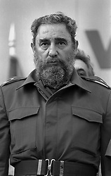 November 26, 2016 - Fidel Castro has died at the age of 90, Cuban state television announced on Saturday, ending an era for the country and Latin America. Pictured: January 10, 1985 - Managua, Nicaragua - Cuba's President FIDEL CASTRO in Managua supporting election of Sandinista FSLN candidate Ortega. Fidel Alejandro Castro Ruz (born August 13, 1926) led a revolution in 1959 and took over Cuba. (Credit Image: © Scott Mc Kiernan/ZUMA Press)