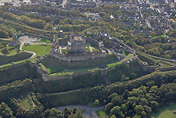 Image ©Licensed to i-Images Picture Agency. Aerial views. United Kingdom.<br /> Dover Castle, Kent. Picture by i-Images