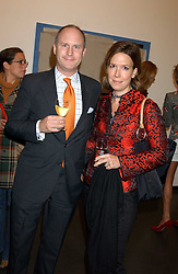 JACOB & ANNA WESTIN at a private view of paintings by Rosita Marlborough (The Duchess of Marlborough) held at Hamiltons gallery, Carlos Place, London W1 on 9th November 2005.<br /> <br /> NON EXCLUSIVE - WORLD RIGHTS