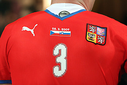 Jersey at the 8th day qualification game of 2010 FIFA WORLD CUP SOUTH AFRICA in Group 3 between Slovenia and Czech Republic at Stadion Ljudski vrt, on March 28, 2008, in Maribor, Slovenia. Slovenia vs Czech Republic 0 : 0. (Photo by Vid Ponikvar / Sportida)
