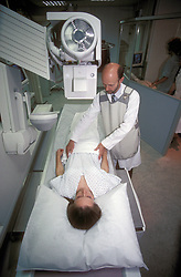 Digital screening x-ray machine at St Helier NHS Trust Sutton Hospital Surrey UK