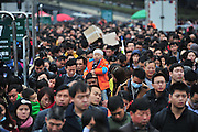 GUANGZHOU, CHINA - FEBRUARY 02: (CHINA OUT) <br /> <br /> Over 50,000 Passengers Stranded At Guangzhou Railway Station<br /> <br /> 50,000 passengers wait for their trains at Guangzhou Railway Station after heavy snow delayed numerous trains on February 2, 2016 in Guangzhou, Guangdong Province of China. Chinese people are preparing for the Spring Festival, the Year of Monkey, which will fall on February 8 according to Chinese calendar. <br /> ©Exclusivepix Media