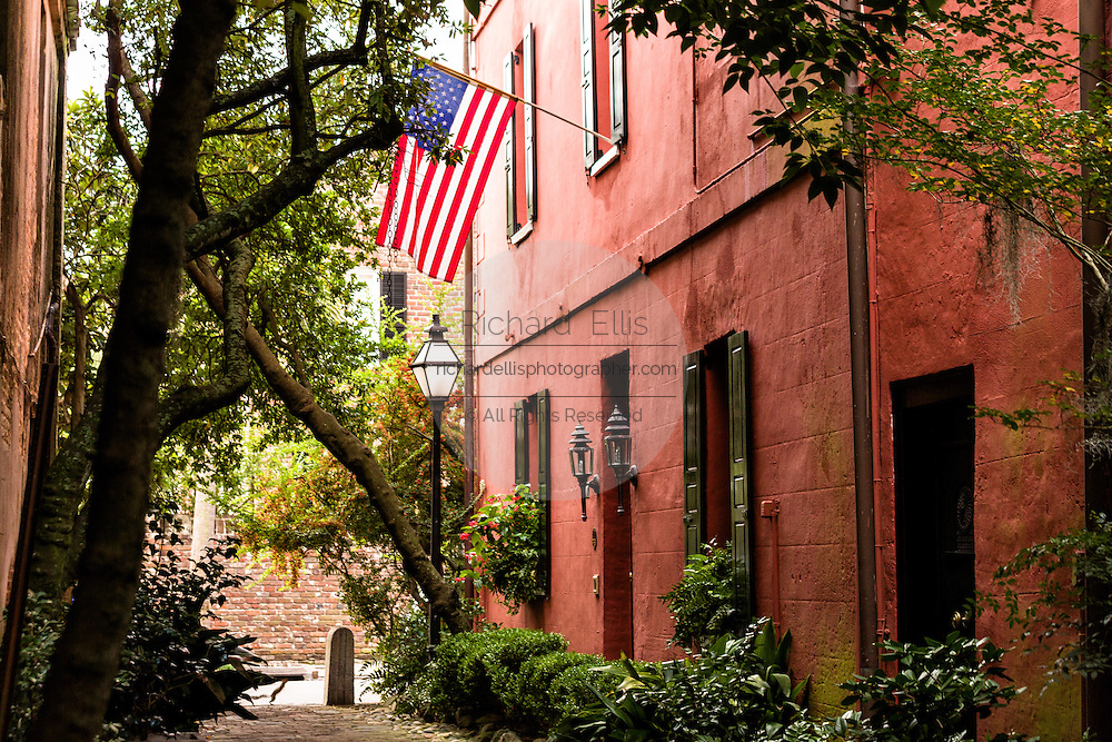 Philadelphia Alley also known as Dueler's Alley in the French Quarter off Queen Street in historic Charleston, SC.