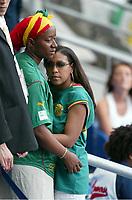 FOTBALL - CONFEDERATIONS CUP 2003 - FINAL - FRANKRIKE V KAMERUN - 030629 - MARC-VIVIEN FOE 'S WIFE - PHOTO STEPHANE MANTEY / DIGITALSPORT