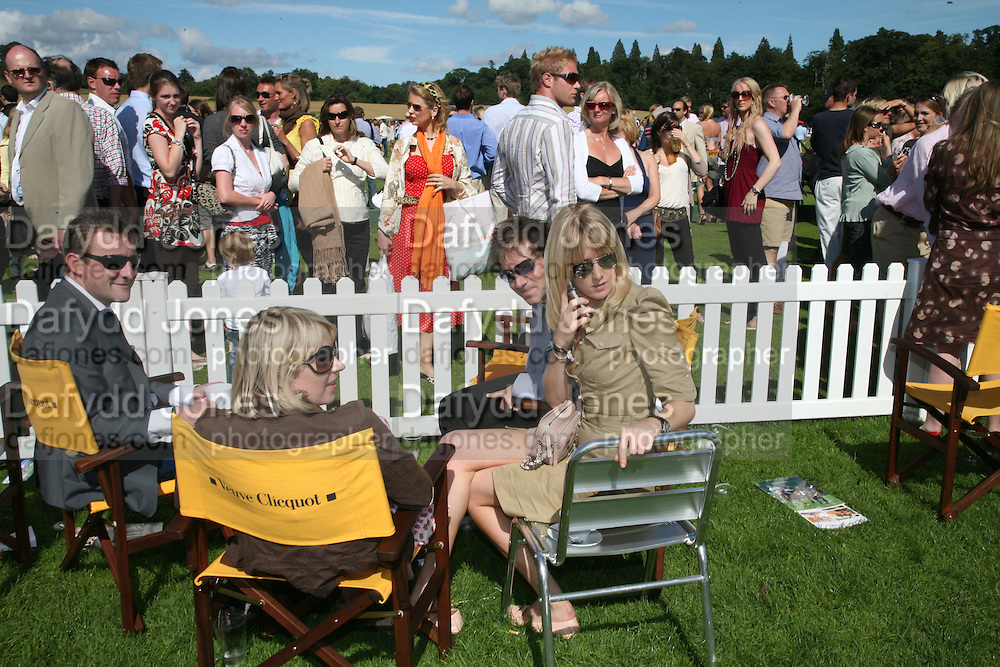 Jolyon Fenwick, Ticky Hedley-Dent, Richard Dennen and Lady Emily Compton, The Veuve Clicquot Gold Cup 2007. Cowdray Park, Midhurst. 22 July 2007.  -DO NOT ARCHIVE-© Copyright Photograph by Dafydd Jones. 248 Clapham Rd. London SW9 0PZ. Tel 0207 820 0771. www.dafjones.com.