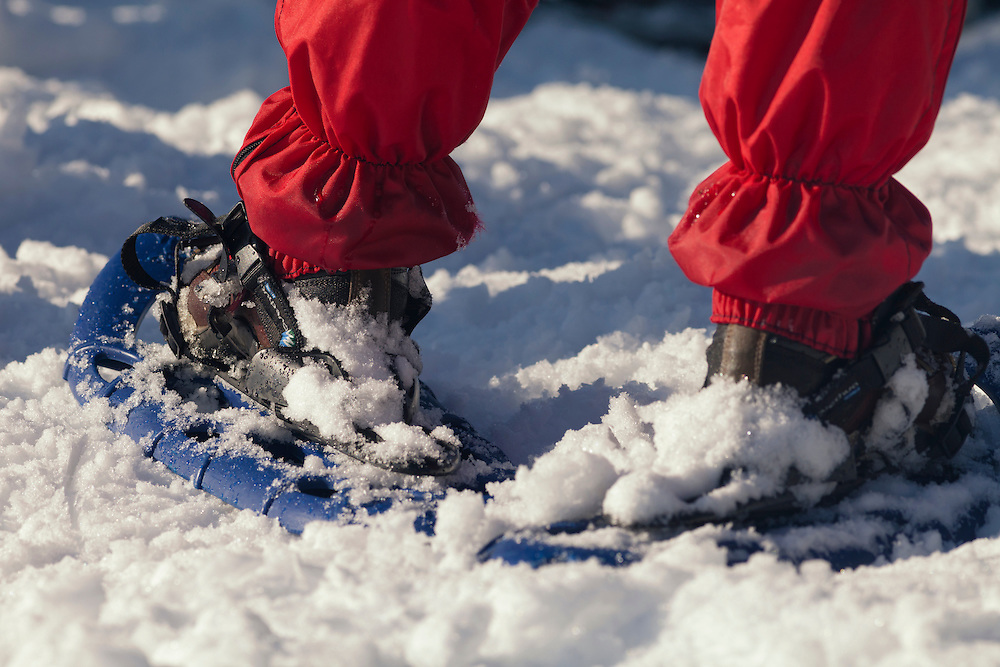 Snowshoes close-up