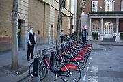 Man vaping outside in London, England, United Kingdom.