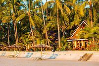 hotel bungalow on the Ngapali Beach near Thandwe at Rakhine state in Myanmar (Burma)