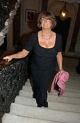 LADY ANNABEL GOLDSMITH at a party to celebrate the publication of Andrew Robert's new book 'Waterloo: Napoleon's Last Gamble' and the launch of the paperback version of Leonie Fried's book 'Catherine de Medici' held at the English-Speaking Union, Dartmouth House, 37 Charles Street, London W1 on 8th February 2005.<br />