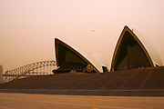 Dust Storm, Sydney, Australia. Harbour Bridge & Opera House &  general views.