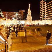Lighting Ceremony of Mayor's Christmas Tree at Crown Center, Kansas City, Missouri. 2014 Christmas/Holiday season.
