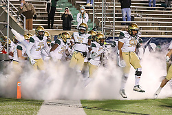Dec 18, 2020; Huntington, West Virginia, USA; The UAB Blazers run onto the field before their game against the Marshall Thundering Herd at Joan C. Edwards Stadium. Mandatory Credit: Ben Queen-USA TODAY Sports