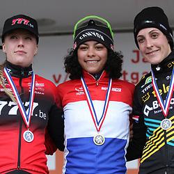 12-01-2020: Wielrennen: NK Veldrijden: Rucphen: Ceylin Alvarado wint het NK Elite voor Annemarie Worst en Lucinda Brand.