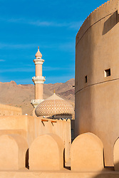 View of Nizwa Mosque from Nizwa Fort in Nizwa Oman