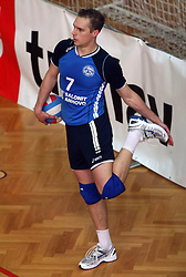 Andrej Kovacic of Salonit at 4th and final match of Slovenian Voleyball  Championship  between OK Salonit Anhovo (Kanal) and ACH Volley (from Bled), on April 23, 2008, in Kanal, Slovenia. The match was won by ACH Volley (3:1) and it became Slovenian Championship Winner. (Photo by Vid Ponikvar / Sportal Images)/ Sportida)