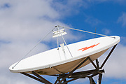 VSAT Satellite dish antenna at cellular communications site <br /> <br /> Editions:- Open Edition Print / Stock Image