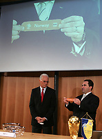 Franz Beckenbauer and James Brown during the Draw. © Valeriano Di Domenico/EQ Images